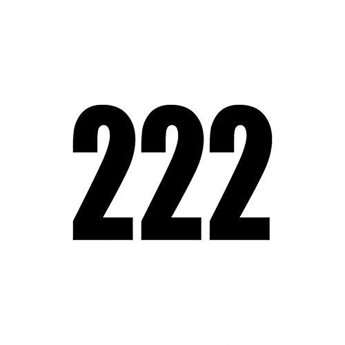 XCWQ Autosticker, 13,2 cm x 9 cm, Fashion Fun Race nummer 222, vinyl trekker, zwart/zilver, accessoires Zwart
