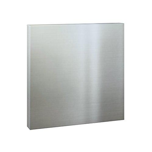 Serafini Briefkasten Square Edelstahl V4A quadratisch 36 x 36 x 10 cm Postkasten Wandbriefkasten