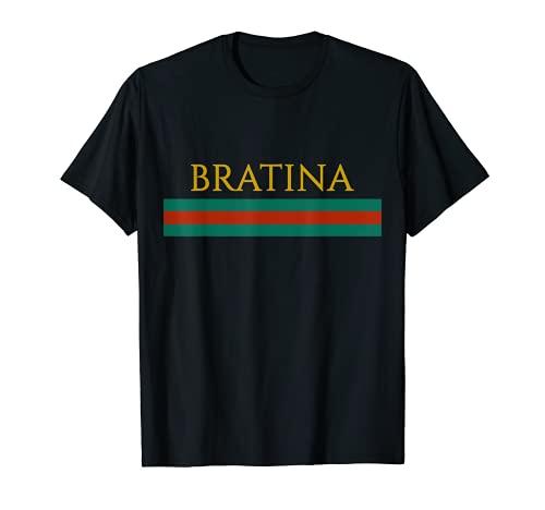 BRATINA T-Shirt für Girls und Boys Frauen Russia Russland T-Shirt