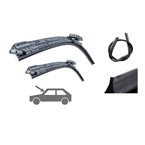 Ruitenwisser, compatibel met de ruitenwissers Toyota Verso, reservemesjes, 2 x blades (Front Blades)