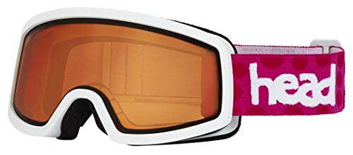 HEAD Unisex Jongeren Junior Skibril Stream, oranje/roze, One Size