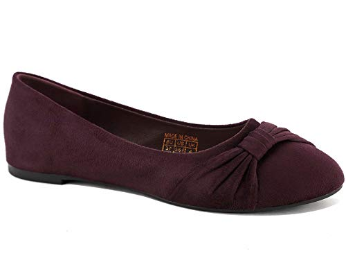 MaxMuxun Bailarinas planas con cómoda plantilla y dos tonos modernos, slip on para mujer., color, talla 36 EU