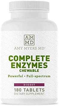 Dr Amy Myers Digestive Enzymes Chewable Complete Enzymes Support Leaky Gut Acid Reflux Gas Bloating product image