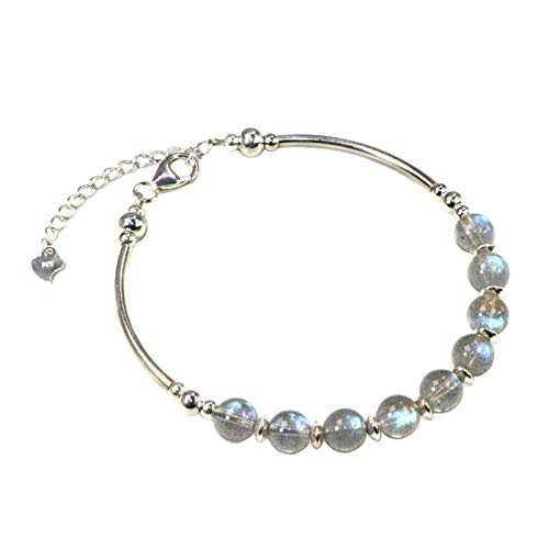 Jan&Dee Manual Original Labradorite Gray Moonstone Crystal Bracelet