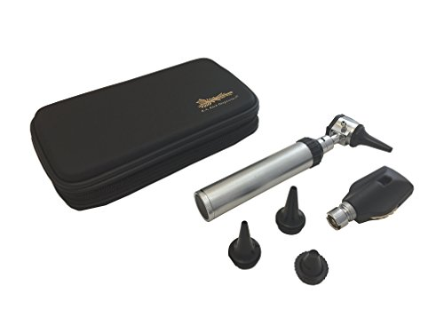 RA Bock 3.2V Bright White LED Otoscope Set with Accessories - The Perfect Tool for Medical School! (Tortoise Shell Case)