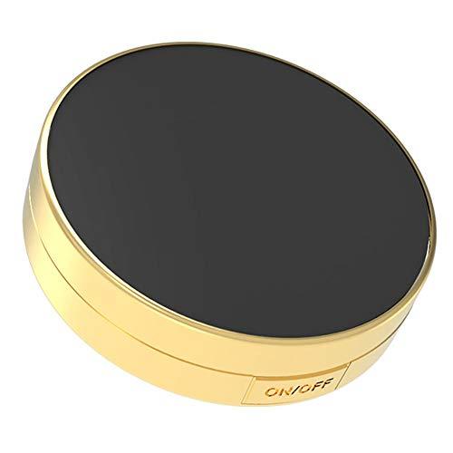 Miroir Rond à LED REMIGHTELY Bright, Miroir Lumineux avec loupe, Miroir Pliant Double-Face, dimmable, loupe 10x, Bagage à Main Portable (A, B) (Couleur : A)
