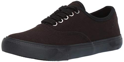 Amazon Brand - 206 Collective Women's Carla Lace Up Casual Sneakers, Canvas/Black, 8.5 M US