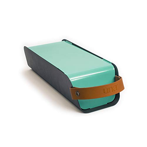UNA Outdoor draagbare houtskool grill barbecue Slim design en compact Mint Turquoise