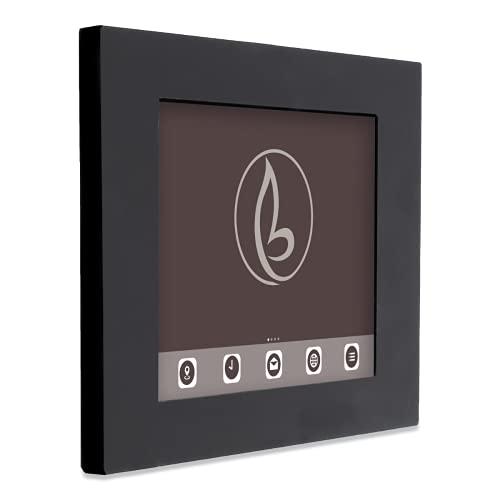 Bravour Piatto - Soporte de pared para iPad 9,7 (botón de inicio y cámara visible), color negro