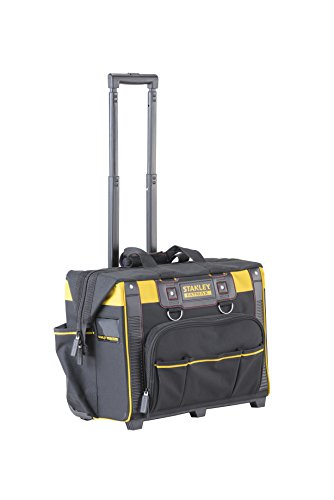 STANLEY FATMAX Open Mouth Rolling Rigid Tool Bag Trolley, Multi-Pockets Storage Organiser, FMST1-80148