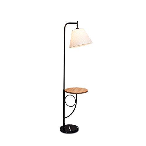 Global- Lampe de plancher simple en bois de style moderne Lampe en tissu de corps Lampe en bois Table ronde E27 Lampe sur pied (Couleur : Wood Round Table)