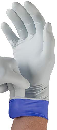 Ansell Microflex 93-868 Einweg-Nitrilhandschuhe LifeStar EC für Erste Hilfe, Untersuchungen und Medizin, Zweilagiger Schutz, Industriel- und Chemikalienarbeiten, Weiß, Größe M (100 Handschuhe)
