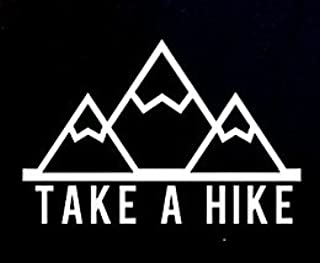 Take A Hike Decal Vinyl Sticker|Cars Trucks Vans Walls Laptop|WHITE|5.5 in|CCI361