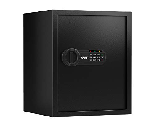 RPNB Deluxe Safe and Lock Box,Money Box,Digital Keypad Safe Box,Steel Alloy Drop Safe, Keypad Lock,Perfect for Home Office Hotel Business Jewelry Gun Cash Use Storage,1.5 Cubic Feet