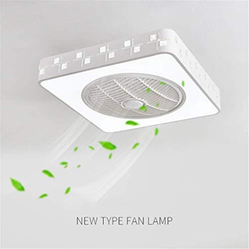 JINWELL Ventilador de techo Lámpara de techo moderna y creativa LED Ventilador de techo con luz con mando a distancia ventilador de techo dormitorio lámpara lluminación 95cm
