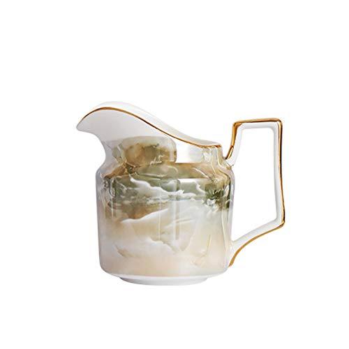 XuYuanjiaShop Salsera Jarra de cermica Charter Leche CAF CAF CAF Estilo DE Lujo Moderno Servir LA Leche/Crema/SALAJE DE LA ESALIZADOR/Sirup DE Maple Caliente para hoteles Familiares