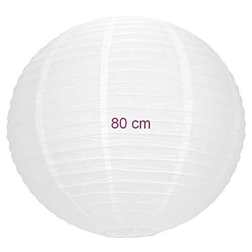 Party Maxi Lampion Boule Géante Chinoise Blanche, Lanterne Japonaise, 80 cm de diamètre, à Suspendre