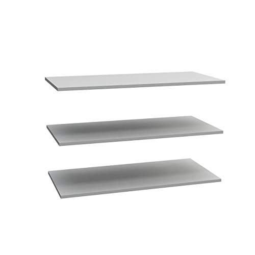 FORTE  Einlegeböden 3-er Set, Holz, Grau, 82,9cm x 1,5cm x 42cm