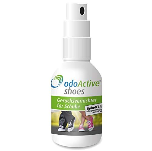 odoActive - Schuhgeruch-Vernichter – Dauerhafter Geruchsentferner – mikrobiologisch – Frische Schuhe & Gesunde Füße – mehrfach ausgezeichnet – Schuh-Deo Spray (1)