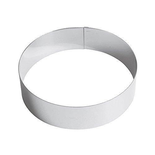 Paderno Anello per Torte/Coppapasta in Acciaio Inox 18/10, Diametro 22 cm, Altezza 6 cm