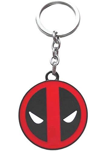 Deadpool - Llavero de metal con logo rojo y negro