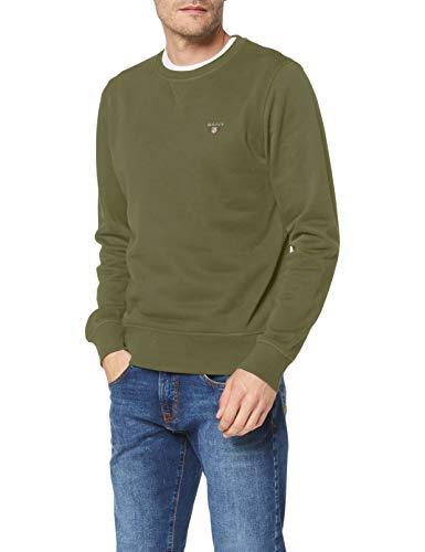GANT Herren The ORIGINAL C-Neck Sweat Pullover, Four Leaf Clover, L