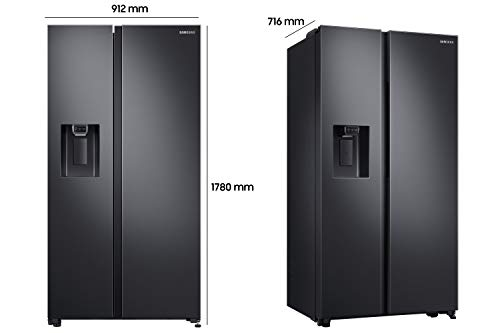 Samsung RS5000 RS64R5302B4/EG Side-by-Side Kühlschrank/A++ / 617 Liter/Space Max/All Around Cooling/Black Steel