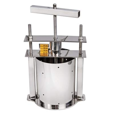 The Sausage Maker - Stainless Steel Cheese Press with Gauge