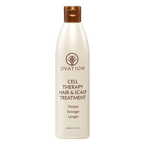Ovation Cell Therapy Hair & Scalp Treatment - Get Thicker, Stronger, Longer - Healthier Hair with Natural Ingredients - Clinically Proven to Reduce Hair Breakage - Made in the USA