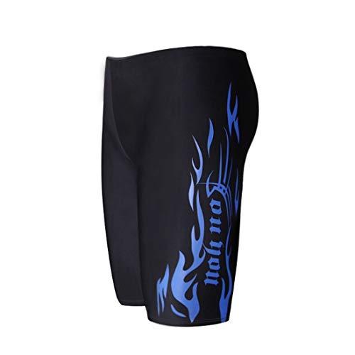Fusanadarn nieuwe persoonlijkheid mannen lange zwembroek vlakke hoek mode vijf punten lage taille Hot Spring zwembroek