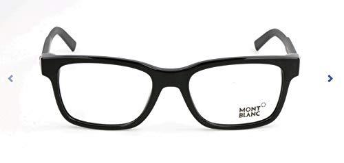 MONT BLANC MB0680 Mont Blanc Brillengestelle MB0680 Rechteckig Brillengestelle 54, Schwarz
