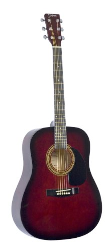Johnson JG-610-R 610 Player Series Acoustic Guitar, Red