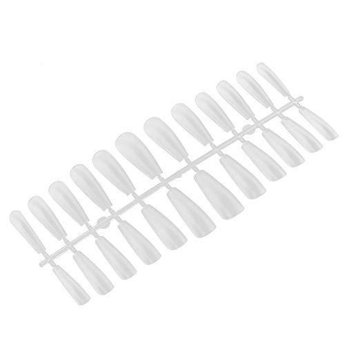 False Nail Art Tips, 240 Pcs/Box False Nail Art Tips UV Gel Tools Artificial Nails Ultra-Thin Frosted Nail Art Tips for Women and Girls(1#)