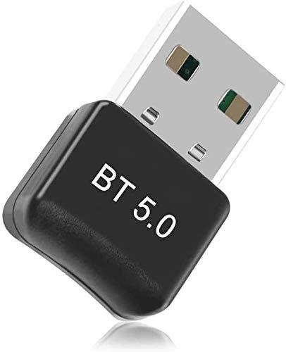 Adattatore Bluetooth – Maxesla USB Bluetooth 5.0 Adattatore Plug and Play, 20M Bluetooth Trasmettitore e Ricevitore per Cuffie, Altoparlanti, Tastiera ect, Compatibile con Windows 10 8.1 8   7   XP