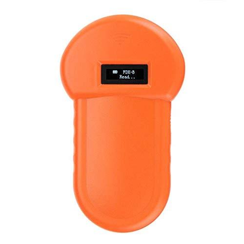 QYQH Tier-Kennzeichnung Chip-Leser RFID 134.2Khz-Reader, Chiplesegerät, Tierchip Transponder, Tierkennzeichnung, Handheld Pet Scanner, ISO FDX-B Animal Chip Reader, für Profis und Privatanwender