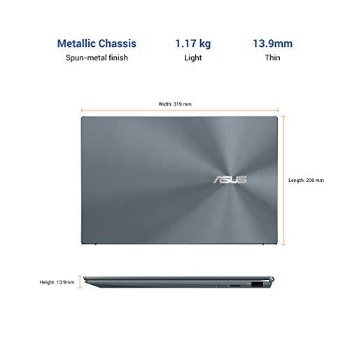 ASUS ZenBook 14 (2020) Intel Core i5-1135G7 11th Gen 14-inch (35.56 cms) FHD T&L Laptop (8GB RAM/512GB NVMe SSD/Windows 10/MS Office 2019/Intel Iris Xᵉ Graphics/Pine Grey/1.17 kg), UX425EA-BM501TS