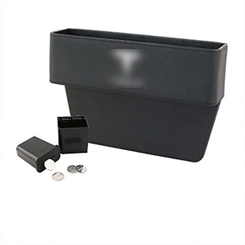 YNHNI 1 caja de almacenamiento para asiento de coche para Tesla Modelo 3 Modelo S Modelo X Auto Gap Organizador Interior Accesorios Cuero PU 2017-2020 (color 1 unidad)