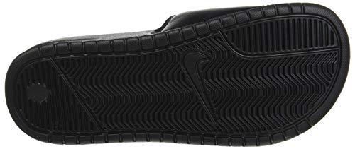 Nike Nike Benassi Jdi, Herren Flip Flop, Schwarz (Weiß/Schwarz), 37.5 EU