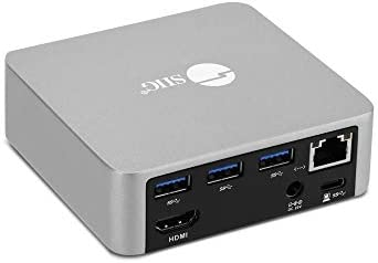SIIG USB C Mini Docking Station with HDMI 4K 30Hz Gigabit Ethernet 4X USB 3 0 Ports Power Delivery product image