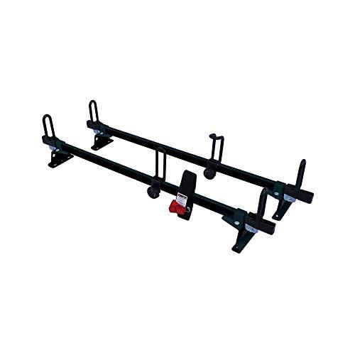 Vantech Universal Aluminum M2000 Ladder roof Van Rack w/ 50' Bars Black