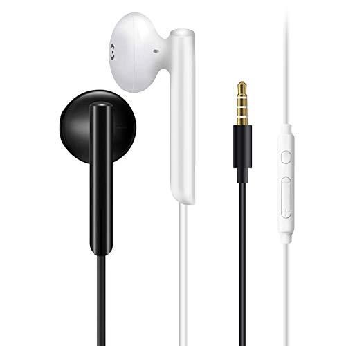 5 pièces Écouteurs Intra-Auriculaires,d'écouteurs antibruit avec Microphones,ecouteur Filaire,Convient pour Samsung, Huawei, téléphones intelligents Android et MP3, etc.