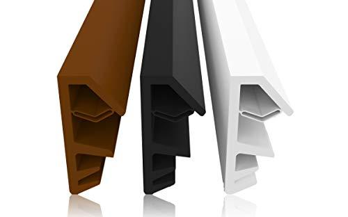 Fensterdichtung Schwarz 10m - 4mm Nutbreite / 12mm Falz aus TPE hochwertige Gummidichtung Holzfensterdichtung Fenster gegen Zugluft Lärm (schwarz 10m)