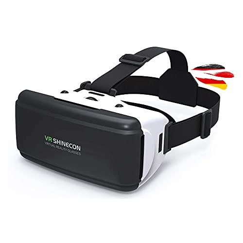 Virtual Reality 3D Brille, VR-Brille ist universal kompatibel mit Allen Smartphones in der Größe 4.0 bis 6 Zoll z.B. Samsung Galaxy Modelle, iPhone, Google Pixel, Xiaomi, HTC und Huawei u.v.a.