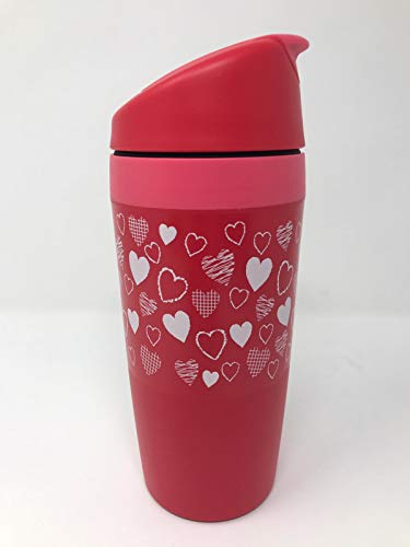 Tupper TUPPERWARE Kaffee to go and Kaffeebecher Thermobecher Coffee Cafe Valentin rot pink Herz Herzen Liebe