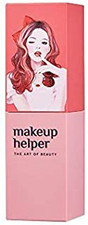 Makeup Helper Semi Matte lipstick - Long Lasting Soft Fit (#001 Temping Red with Foxy Lady Design)