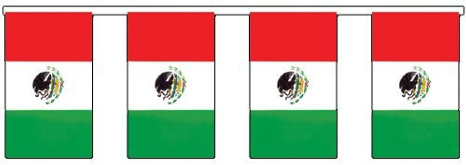 IdealWigsNet Outdoor Mexican Flag Bunting  20m (60ft)