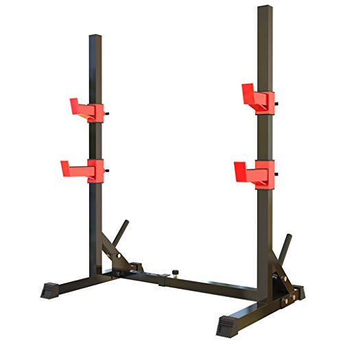 DFANCE Hantelbänke Squat Rack Home Fitness Multifunktionales Teleskop Bankdrücken Squat Rack Langhantel Rack Squat Rack Beinpresse Stretching Maschine