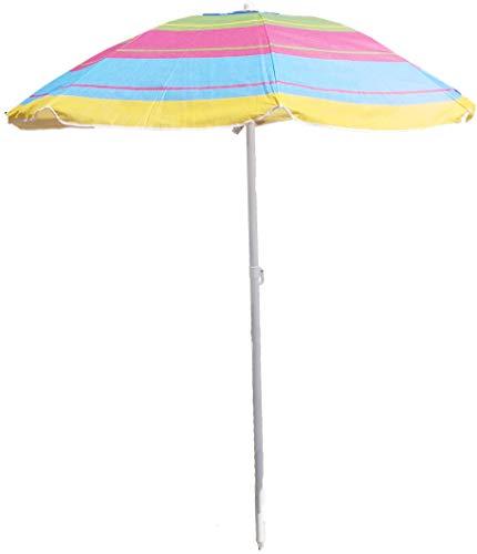 Ombrellone da spiaggia in tnt diam. 200cm, ombrellone mare portatile con custodia con tracolla, ombrellone spiaggia Ø 2M. in acciaio con snodo in plastica,ombrellone per spiaggia multicolor Rapallo/2
