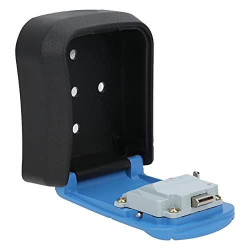 Caja fuerte combinada para llaves, caja fuerte para llaves de acero inoxidable de gran capacidad montada en la pared para oficina, exterior, interior, hogar(azul)