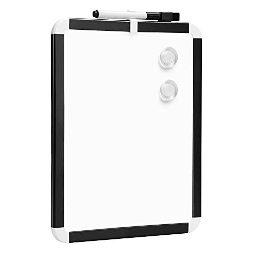 Amazon Basics - Pizarra magnética de borrado en seco, bastidor de plástico, 21,6 x 27,9 cm